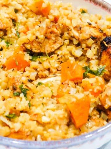 cauliflower rice and chicken