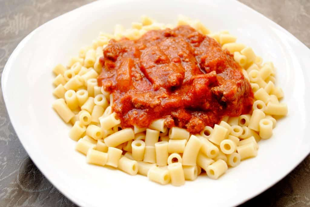 homemade spaghettios with ditalini pasta