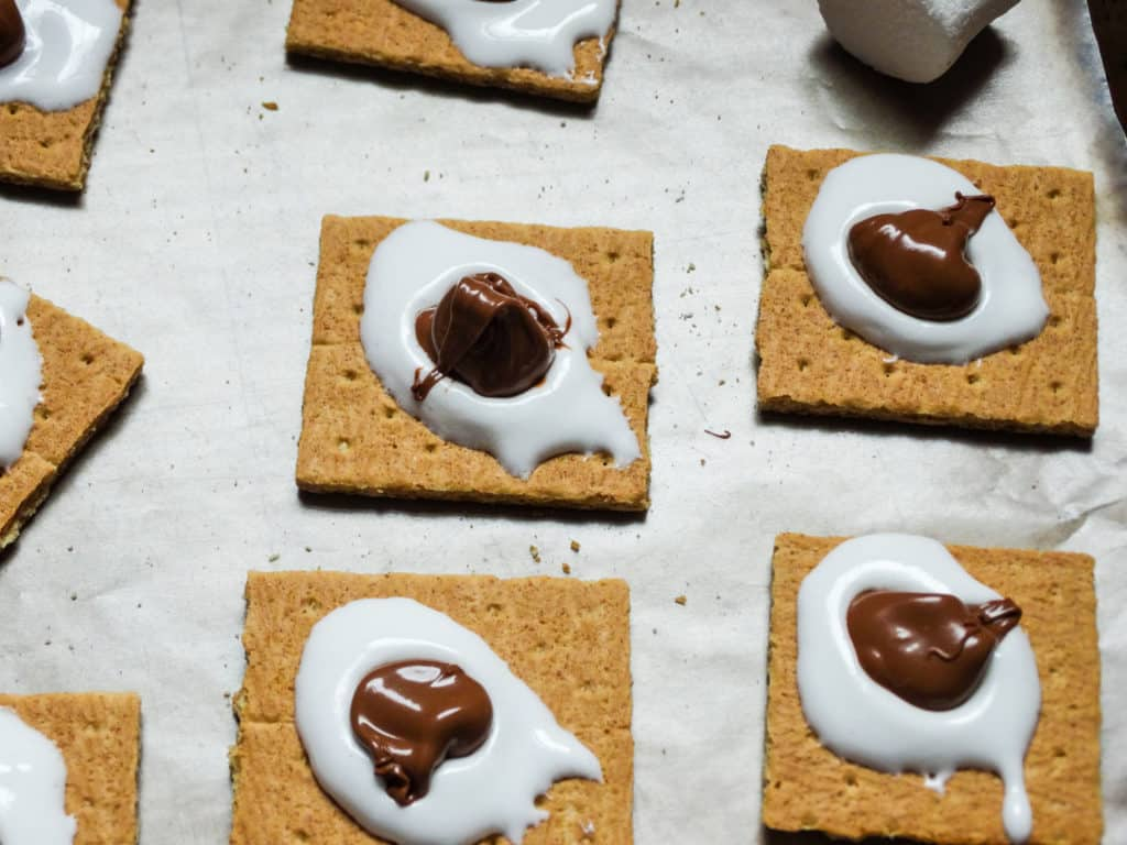 how to make s'mores without fire: s'mores snack bites