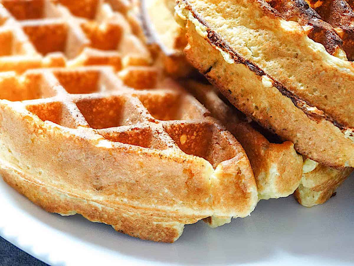 cottage cheese waffles close up photo