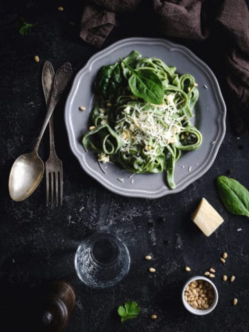 homemade spinach pasta dough