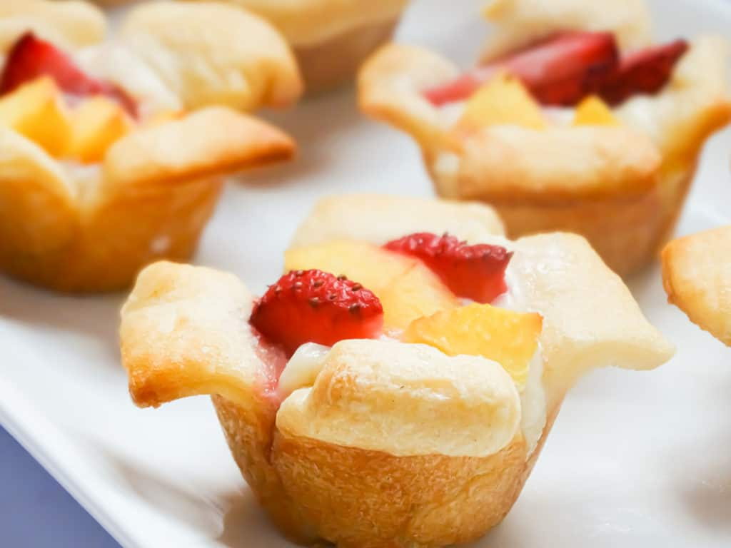 croissant cups with fruit and danish filling