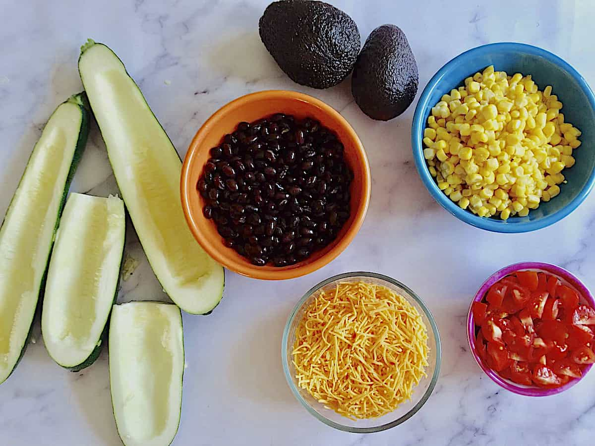 ingredients for taco boats