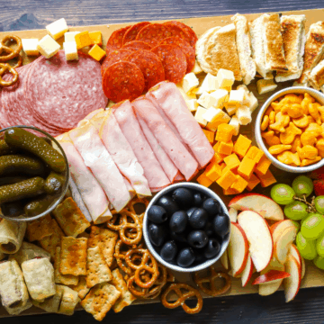charcuterie and snack boards