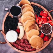 family breakfast feast: pancake breakfast charcuterie board