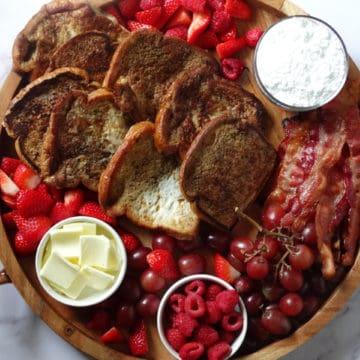 french toast breakfast charcuterie platter