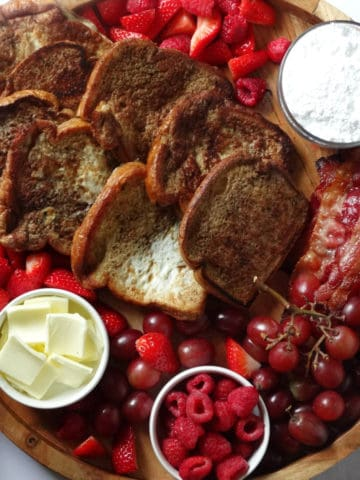 french toast breakfast charcuterie platter