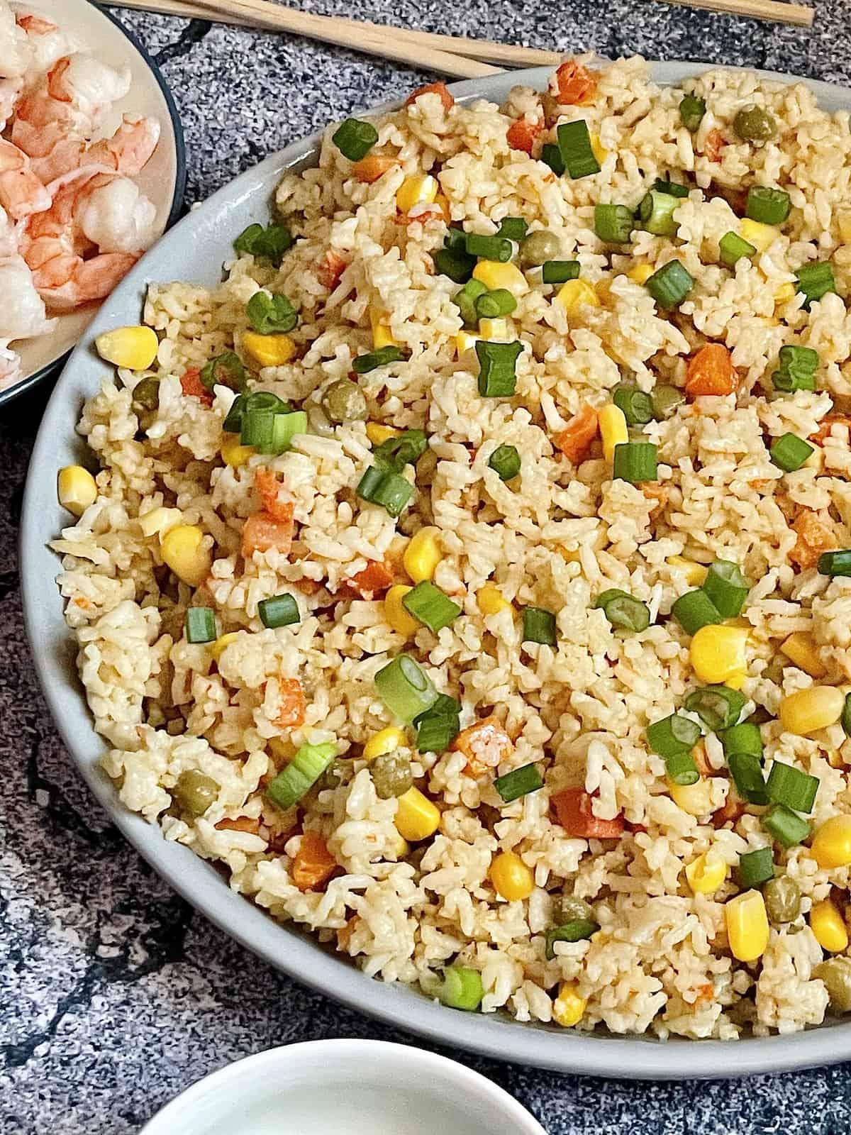 Instant Pot fried rice close up