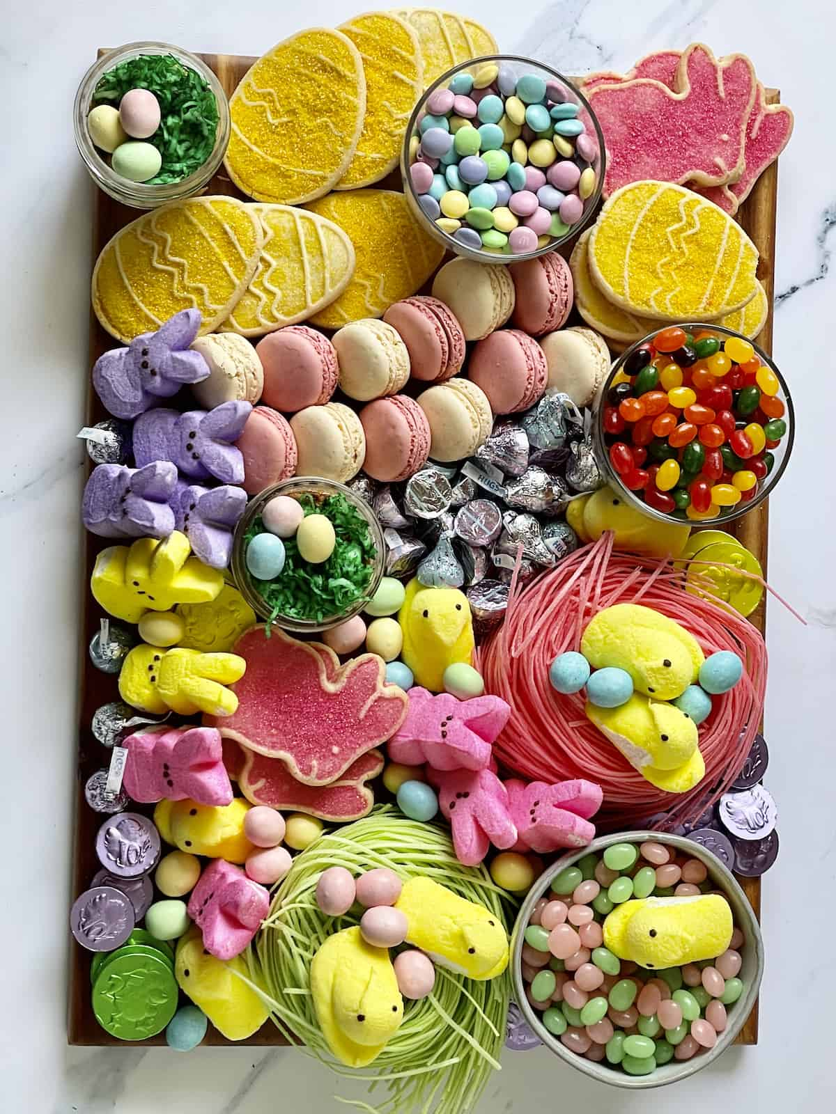 Easter charcuterie candy board