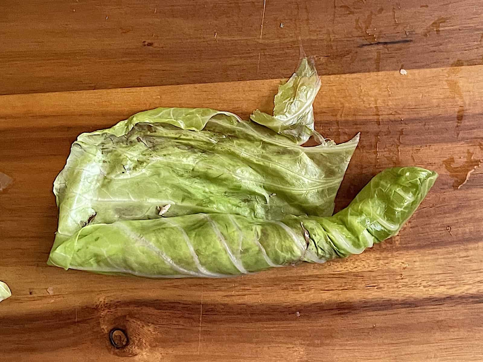 partially rolled stuffed cabbage