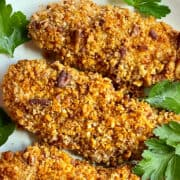 Air Fryer Chicken Tenders - Pecan Crusted