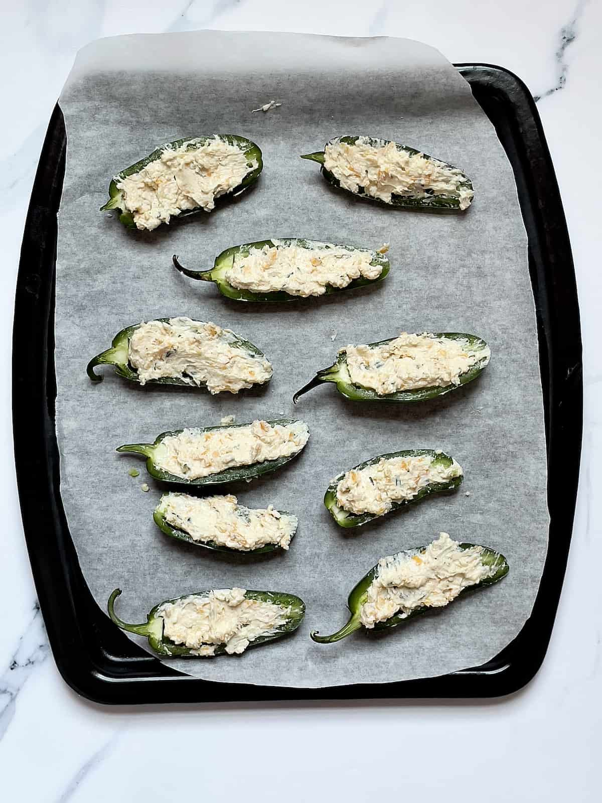 jalapeno peppers stuffed with cream cheese filling